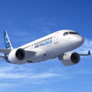 A220-100 airbus plane